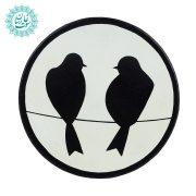 بشقاب نقطه کوبی دو پرنده