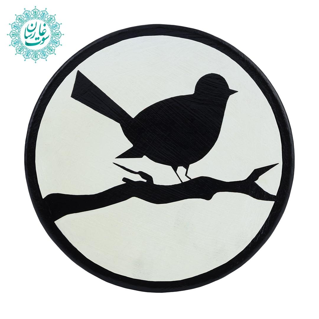 بشقاب نقطه کوبی پرنده و شاخه