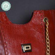 کیف دوشی چرم زنانه مانلی