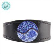 دستبند چرم مینا کاری گلبرگ