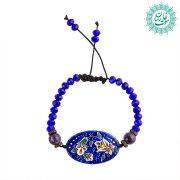 دستبند میناکاری زنبق آبی