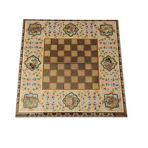 شطرنج و تخته نرد خاتم کاری تذهیب